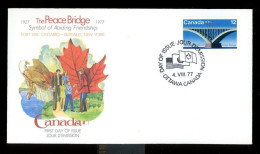 Canada, Michel 662, Peace Bridge, First Day Cover - Bridges