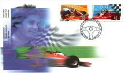 1997  Gilles Villeneuve Formula 1 Race Car Driver  Sc 1647-8  Se-tenant Pair - 1991-2000