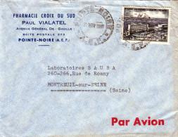 CONGO 1955?, 15 F Auf LP-Brief Von Pointe-Noire (A.E.F.) Nach Montreuil - Kongo - Brazzaville