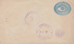 "GUATEMALA 1898?, 5 Centavos Ganzsache Auf Brief, Stempel ""Mazatenango"" + ""Retalhuleu"" - Guatemala"