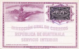 Guatemala 1 Centavo Ganzsache 1897 ... Auf Lithographischer Bildpostkarte, Karte In Sehr Guter Erhaltung - Guatemala