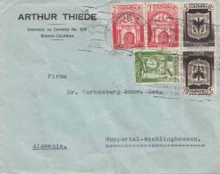 COLOMBIA 1938 - 5 Fach Frankierung Auf Firmenbrief Von Bogota Nach Wichlinghausen - Colombia