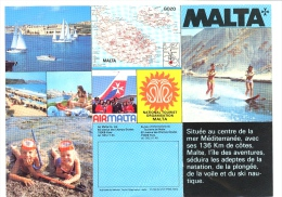 Depliant Touristique Folding Advertiser For Tourism MALTA C.1980 - Advertising
