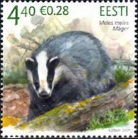 Ref. 223895 * MNH * - ESTONIA. 2007. THE EUROPEAN BADGER . EL TEJON - Estland