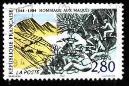 FRANCE  1994   -  Y&T   2876  -     Hommage Aux Maquis  -  Oblitéré - Gebraucht