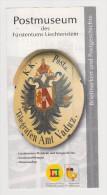 Brochure / Broschüre Liechtenstein Postmuseum - Postal Museum With Museum Cancellation - Kunst