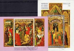 Eastern - Fest 1973 Guinea Äquatorial Block 68 Plus 69 O 5€ Heiligen - Gemälde Jesus Im Tempel, Heilige Lazarus - Guinée Equatoriale