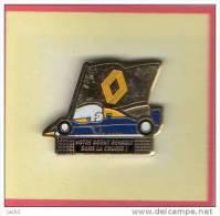 Pin´s  Sport  F1  Automobile  Renault, Votre  Agent  Renault  Dans  La  Course - Renault