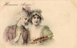 Carte Viennoise.Jeunes Filles.Heureuse Année.M.M.VienneNr 346.2 Scans. - Illustratoren & Fotografen