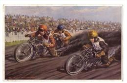 AK Bahnrennen München 1931 , Motorradrennen , Motorrad , Grasbahn , Sandbahn , Speedway , Moto !!! - Motorfietsen