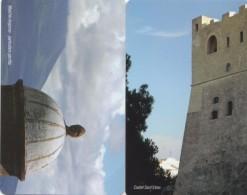 NUOVE -(MINT)- 2201/02-TELECOM ITALIA--NAPOLI PHILATELICA 2007- 2 SCHEDE - Italia