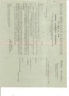 ECOLE SPECIALE D AVIATION  Certificat D'inscription - Francia