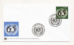 ONU - UNO - FDC 65 Ans - FDC