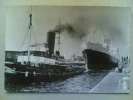 """CPSM DU HAVRE Le Port - Remorquage Du """" Charles Tellier Par L' """"Abeille """" - Le Havre"""