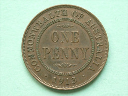 1913 - ONE PENNY / KM 23 ( Uncleaned Coin - For Grade, Please See Photo ) !! - Penny