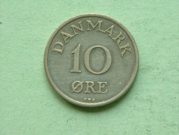 1953 NS - 10 Ore / KM 841.1 ( Uncleaned Coin - For Grade, Please See Photo ) !! - Danemark