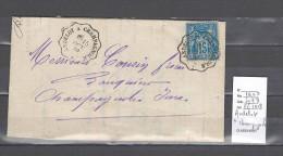 Lettre Cachet Convoyeur  Andelot à Champagnole - Indice 9 - Postmark Collection (Covers)