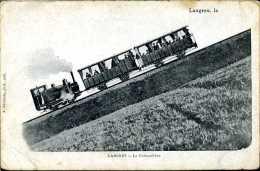 La Montée Du Funiculaire - Langres (52) - ( CPA ) - Funiculaires