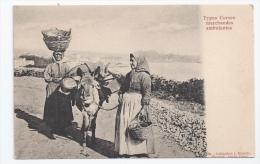 20 - CORSE - TYPES CORSES - MARCHANDES AMBULANTES - ÂNE BÂTÉ - ED. MORETTI - PRECURSEUR - Bastia