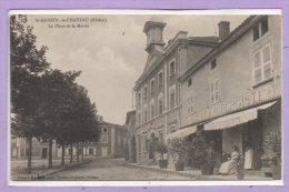 69 - SAINT ANDEOL Le CHATEAU--  La Place Et La Mairie - France