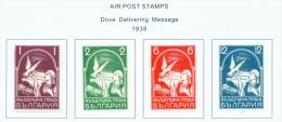 BULGARIA  -  1938  Air  Mounted Mint - 1909-45 Kingdom