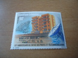 Gabun: MiNr 938 Postgebäude  (1985) - Gabun (1960-...)
