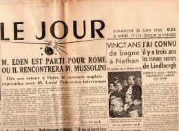 Le Jour Du 23 Juin 1935 - Journaux - Quotidiens
