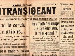 L'Intransigeant Du Vendredi 7 Juin 1935 - Informations Générales