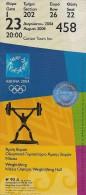 Ticket Olympic, Athenas 2004. - Tickets - Entradas