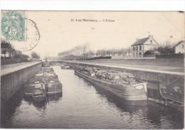 23532 LES MUREAUX  -78 France- L' Ecluse - Ed 10 DWD - Peniche Barrique Tampon Convoyeur Rouen à Paris - Péniches