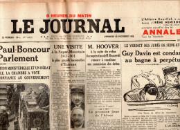 Le Journal Du Vendredi 23 Décembre 1932 - Journaux - Quotidiens