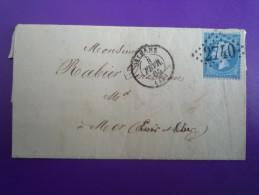 Lettre 1865 Orléans Pour Mer GC Sur Y&T 22c ? Bonneterie Bernay, Facture. Voir Détails. - Marcophilie (Lettres)