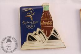 Sydney 2000 Olympic Games (Blue Background) - Coca Cola Pin Badge  - #PLS - Coca-Cola