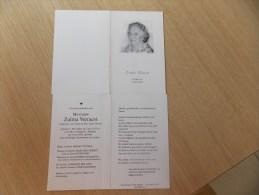 Doodsprentje Zulma Verraest Wevelgem 1/6/1912 Rekkem 16/7/2002 ( Adiel Desmet ) - Religione & Esoterismo