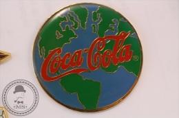 Large Coca Cola Earth Globe - Pin Badge  - #PLS - Coca-Cola