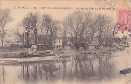 23537 LEVALLOIS PERRET Pointe Ile De La Grande Jatte -AD Paris 21 - Peniche Barque