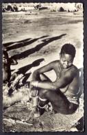 CPA-PHOTO- AFRIQUE- TCHAD- FORT-ARCHAMBAULT- FEUNE FEMME SARA ET SON ENFANT-  GROS PLAN