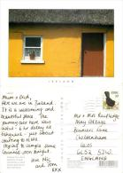 Old Cottage, Ireland Postcard Posted 1998 Stamp - Other