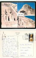 Abu Simbel, Egypt Postcard Posted 2010 Stamp - Abu Simbel Temples