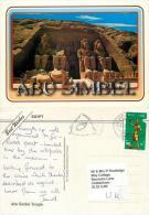 Abu Simbel, Egypt Postcard Posted 2009 Stamp - Abu Simbel Temples