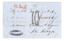 D.A.a.L., L1 In Rot Auf Briefhülle Aus Marianopoli/Sizilien Taxzahl 10 Mit Durchgang Und Ankunft-Stempel - 1. ...-1850 Vorphilatelie