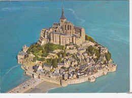Cp , 50 , LE MONT SAINT-MICHEL , Vue Aérienne - Le Mont Saint Michel