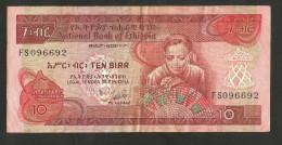 [NC] ETHIOPIA - NATIONAL BANK Of ETHIOPIA - 10 BIRR - Etiopia