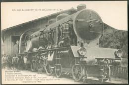 Les Locomotives Françaises  (P.L.M.) -    Machine  N°6001  Pour  Trains Rapides Lourds - Trains