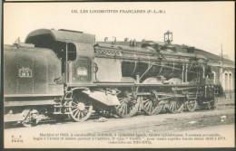 Les Locomotives Françaises  (P.L.M.) -    Machine  N°6110  Pour  Trains Rapides Lourds - Trains