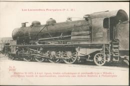 Les Locomotives Françaises  (P.L.M.) -    Machine  N°1075 Pour  Trains Lourds De Marchandises - Trains