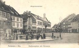 67_40 Molsheim Rathausplatz Mit Brunnen Belle Animation - Molsheim