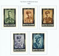 BULGARIA  -  1944  King Boris Mourning Issue  Imperf  Mounted Mint - 1909-45 Kingdom