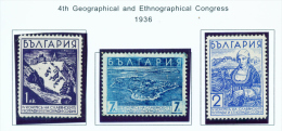 BULGARIA  -  1936  Geographical And Ethnographical Congress  Mounted Mint - 1909-45 Kingdom