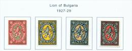 BULGARIA  -  1927  Lion  Mounted Mint - 1909-45 Kingdom
